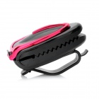 Car Vehicle Sun Visor Clip Sunglasses / Eyeglass Holder - Deep Pink + Black