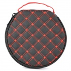 Portable Artificial Leather CD Storage Bag Box - Red + Black (Holds 20-CD)
