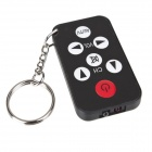 Mini Universal TV Remote Controller Keychain - Black + White + Red (1 x CR2025)