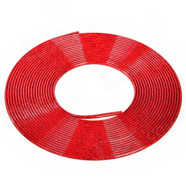 Car Chrome Effect PVC Air Vent Decorative Strip - Red (15m)