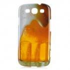 Beer Pattern Protective PC Plastic Case for Samsung Galaxy S3 I9300 - Yellow