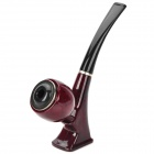 Plastic Tobacco and Cigarettes Smoking Pipe - Maroon + Schwarz