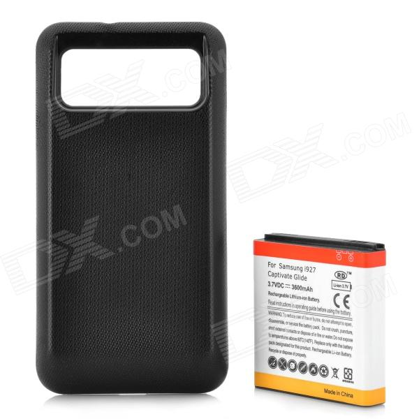 Replacement 3.7V 3600mAh Battery Pack w/ Back Cover for Samsung i927 - Black replacement 3 7v 3600mah battery pack w back cover for samsung i927 black