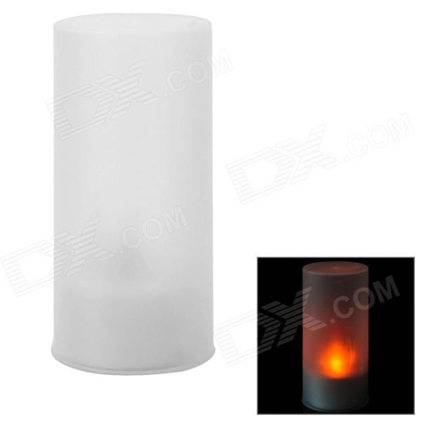 Simple Candle Style Yellow Light Night Lamp - Translucent (3 x LR44)