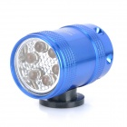 6-LED 2-Mode White Light Bicycle Safety Front / Tail Lamp w/ Holder - Blue (2 x CR2032)