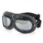 Fashion Transparent PC Lens Safety Motorcycle Goggles - Black Frame
