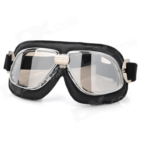 Fashion Silver Plating PC Lens Safety Motorcycle Goggles