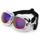 Fashion Reflective PC Lens Safety Motorcycle Goggles - Silver Frame