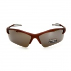 Outdoor Motorcycle UV 400 Protection PC Lens Polarized Sunglasses - Brown