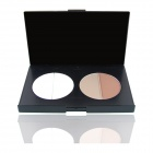 Cosmetic Makeup 4-Color Circular Trimming Face Powder - White + Flesh Color
