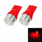 T10 1W 50lm LED Red Light Motorcycle Instrument / Fog / Steering Lamp (2 PCS)