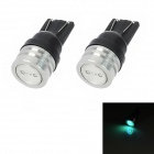 T10 1W 50lm LED Flashing Colorful Light Motorcycle Instrument / Fog / Steering Lamp (2 PCS)