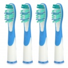 SR-18A Replacement Soft Bristles Electric Toothbrush Heads - White (4 PCS)