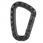 Outdoor Sports Quick Release Carabineer Hook - Black