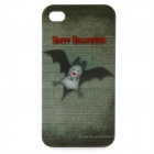 Bat Pattern Protective Hard Plastic Back Case for Iphone 4 / 4S - Deep Green