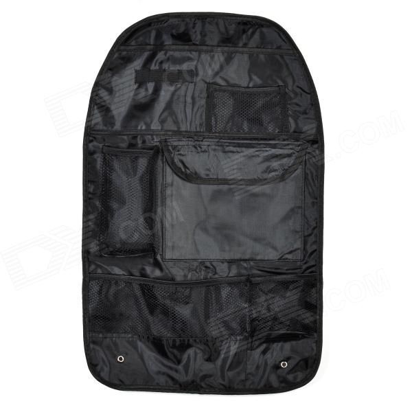 Car Seat Back Pocket-Storage Organizer Bag - Black