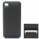 1700mAh Rechargeable Battery Back Case for iPhone 4 / 4S - Black + Blue