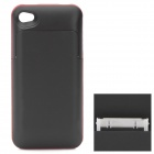 Rechargeable 1700mAh External Battery Back Case for iPhone 4 / 4S - Black + Red