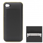 1700mAh Rechargeable Battery Back Case for iPhone 4 / 4S - Black + Yellow