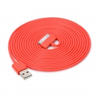 USB Male to 30 Pin Male Data / Charging Cable for iPad / iPhone - Red (300cm)
