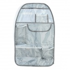 Car Seat Back Pocket-Storage Organizer Bag - Grey