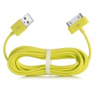 USB Male to 30 Pin Male Data / Charging Cable for iPad / iPhone - Yellow (300cm)