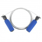 Exercise Skipping Steel Wire Jump Rope - Black + Blue + Silver (2.8m)