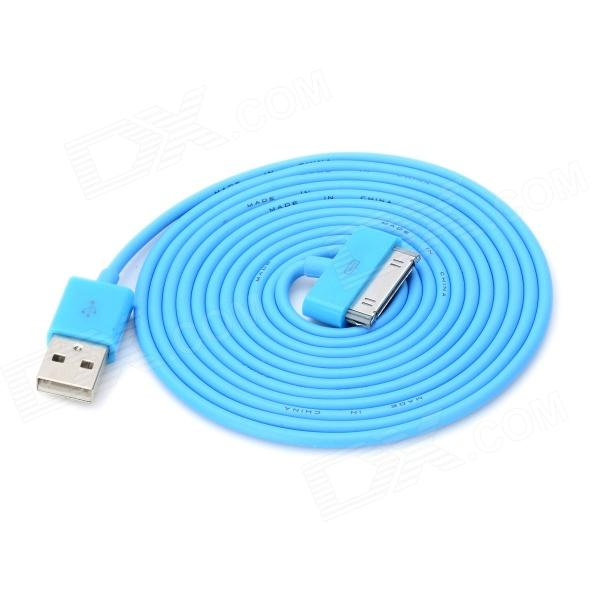 USB Male to 30 Pin Male Data / Charging Cable for iPad / iPhone - Blue (200cm)
