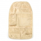 Car Seat Back Pocket-Storage Organizer Bag - Beige
