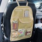Car Seat Back Pocket-Storage Organizador bolsa - Beige