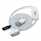 USB Male to 30 Pin Data / Charging Cable w/ Extension Cable for iPad / iPhone 4 / 4S - White