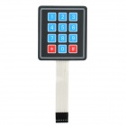 3 x 4 Matrix 12 Key Membrane Switch Keypad Keyboard w/ Sticker - Black