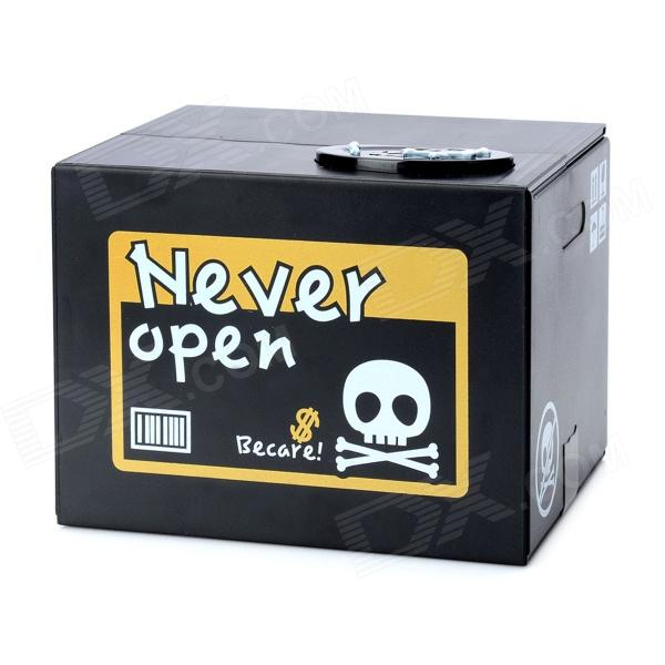 Halloween Sounded Skull Piggy Bank - Black (2 x AA)