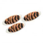 Leopard Pattern Makeup Mineral Eye Shadow Stickers - Brown + Black (2 Pairs)