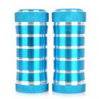 Cylinder Shaped Aluminum Alloy Motorcycle Front Pedals - Blue (2 PCS)