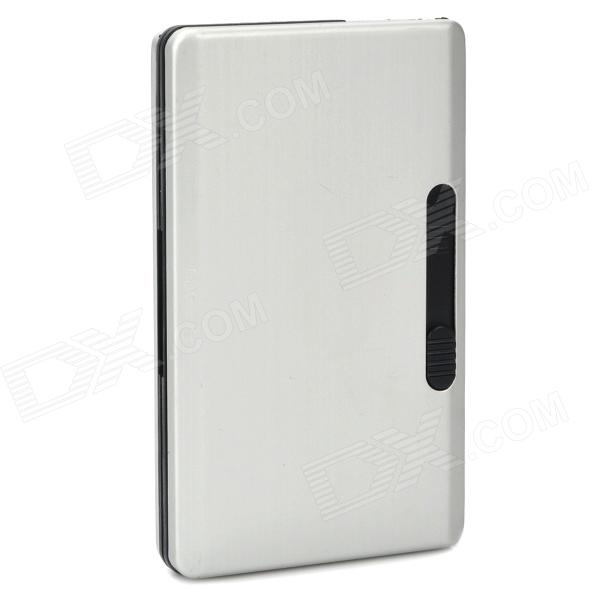 Aluminum Alloy and Plastic Cigarette Case Holder - Silver