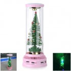 Christmas Tree Stil Wiederaufladbare Media Player Stereo Speaker w / SD / MMC - Pink + Grün