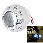 "Universal 2.5"" Motorcycle 35W 2600LM HID Xenon Projector Lens Headlight Kit (Blue Angel Eyes)"