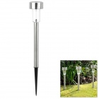 Automatic Solar Powered 1-LED White Light Lawn / Garden Lamp Set - Silver