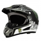 Coole WLT-125 Monster Stil Motorcycle Racing Helmet - Black (Größe XL)