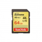 Genuine SanDisk Extreme SDXC 300X High-Speed Memory Card (64GB / Class 10)