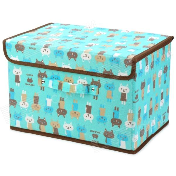 Cute Cat Pattern Non-Woven Storage Case - Blue (L-Size) (Neko) Fontana Продажа по объявлению