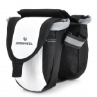 Outdoor Bike Bicycle Top Tube Double Bag - Black + White