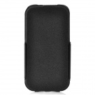 Rock Ultra-Thin Protective PU / Fiber Top Flip-open Case for Samsung i9300 - Black