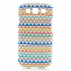 Rock Fantasy Triangle Pattern Protective Polycarbonate Case for Samsung i9300 - White + Blue + More