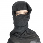 Mesh Face Veil Head Cover Scarf - Black