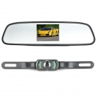 "3.5"" Wireless Car Rearview Mirror LCD Monitor Kit - Black"