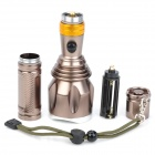 New-833 1000lm 3-Mode White Light Flashlight - Coffee (1 x 18650 / 3 x AAA)