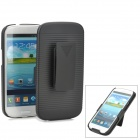 Wave Pattern Protective Plastic Case w/ Back Clip for Samsung Galaxy S III i9300 - Black