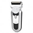 POVOS PS6168 Electric 2-Blade-Head Reciprocating Shaver Razor - Silver (AC 100~240V)